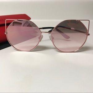 GUESS Veronica Cat Eye Flash Sunglasses